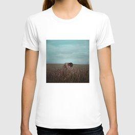 Self portrait in a field #nude T-shirt