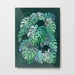 Monstera Monsters Metal Print