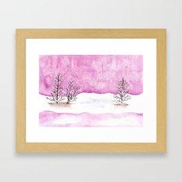 Winter Watercolor Painting Framed Art Print