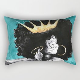 Naturally Queen VI  TEAL Rectangular Pillow