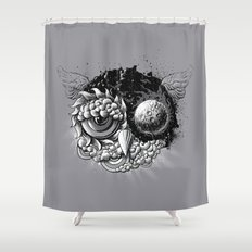 Owl Day & Owl Night Shower Curtain