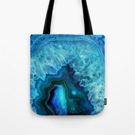 Bright Blue Agate Tote Bag