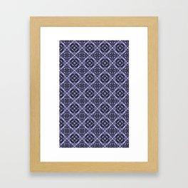 Orchid and Black Damask Pattern Framed Art Print