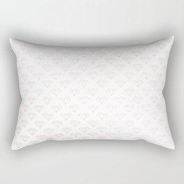 Simply Diamonds in Rose Gold Sunset Rectangular Pillow