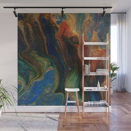 Earth Fire Lava Flow Cells Wall Mural