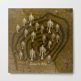 Ethnic 4 Canary Islands / Crowd in the Maze Metal Print