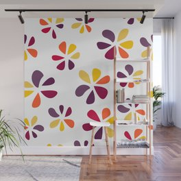 Pattern Fowers colorful Wall Mural