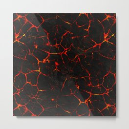 Hot Lava Metal Print