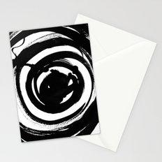 Swirl Black Stationery Cards