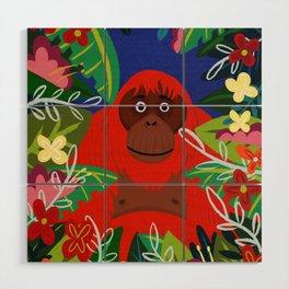 Orangutan Wood Wall Art