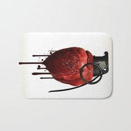 Heart Grenade Bath Mat