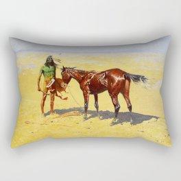 "Frederic Remington Western Art ""Hunted Down"" Rectangular Pillow"