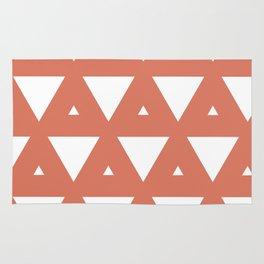 Terra Cotta Triangles Rug