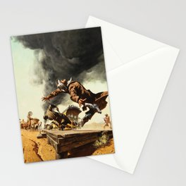 Frank McCarthy painting for Once Upon a Time in the West Stationery Cards