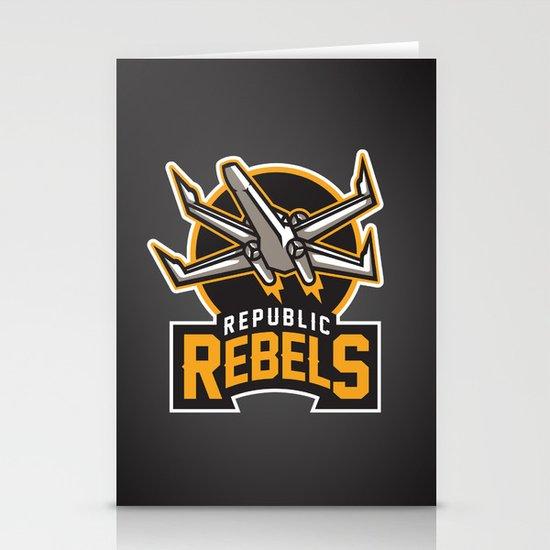 Republic Rebels - Black Stationery Cards