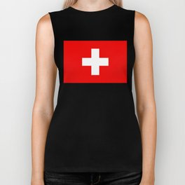 Flag of Switzerland - Authentic (High Quality Image) Biker Tank
