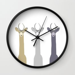 Triple Deers Wall Clock