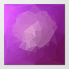 Eminence Violet Abstract Low Polygon Background Canvas Print