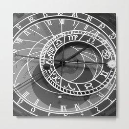 prague's astronomical clock Metal Print