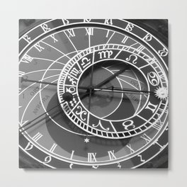 prague's astronomical clock Metal Print