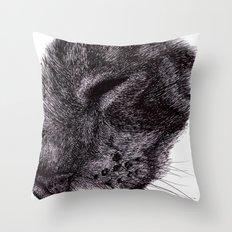 Cat illustration Throw Pillow