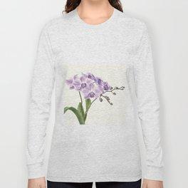 Purple phalaenopsis artwork Long Sleeve T-shirt