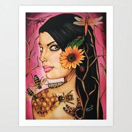 Ode to Positivity Art Print