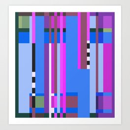 Geometric design - Bauhaus inspired Art Print