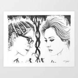 Orphan Black - Cophine Ink Wash Art Print