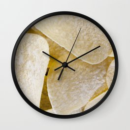 light-colored thin potato chips Wall Clock