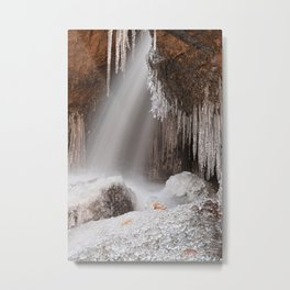 Stream of Frozen Hope Metal Print