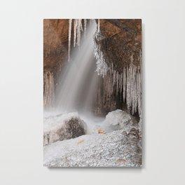 Stream of Frozen Hope Metal Print