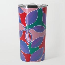 Purple Leaf Block Color Travel Mug