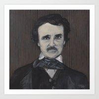 edgar allan poe Art Prints featuring Edgar Allan Poe by Melinda Hagman