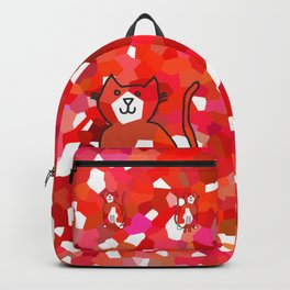 Crystal Cat - Red Backpack