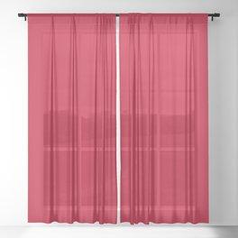 NEW YORK FASHION WEEK 2019- 2020 AUTUMN WINTER CHILLI PEPPER RED Sheer Curtain