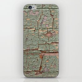 Cracked Wood Paint iPhone Skin