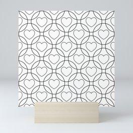 Decor with circles and hearts Mini Art Print