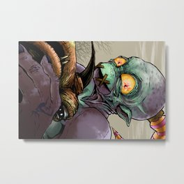 Oddworld: Abe and Elum Metal Print