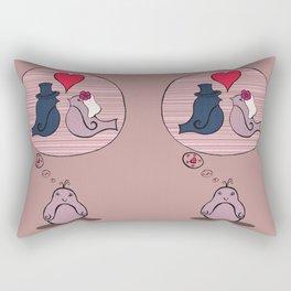 Tagträumer - Vogelhochzeit Rectangular Pillow