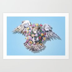 Birds in Bloom Art Print