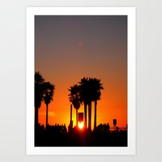 Venice Beach Sunset Art Print