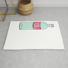 Funny & Relaxing Vodka Tee Design Save water Rug