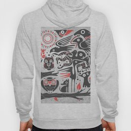 Forest and animals illustration Hoody