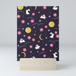 Moon Rabbits V2 Mini Art Print