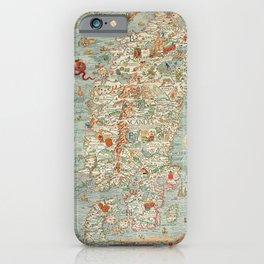 Carta marina (Marine Map) by Olaus Magnus, 1539 iPhone Case