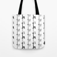 giraffes Tote Bags featuring Giraffes by Madeleine Groves