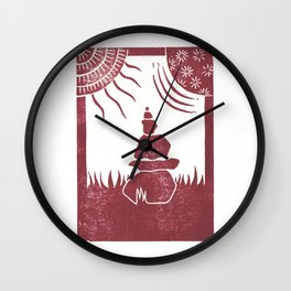 Relaxation (White) Wall Clock