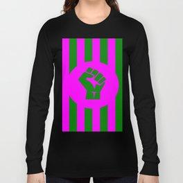 feminist fist logo Long Sleeve T-shirt