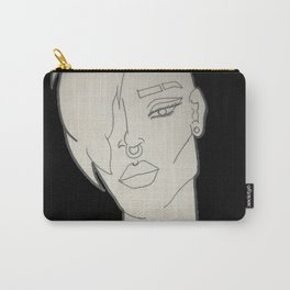 Punk Girl (B&W) Carry-All Pouch